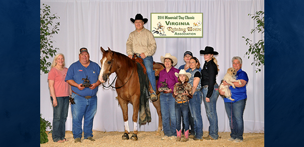 Chapman Reining Horses would like to congratulate Don Burgy, ridingKR Hickory Hurricane, on his sweep of the NonPro classes at the Virginia Reining Horse Association Memorial Day Classic May 23-25!