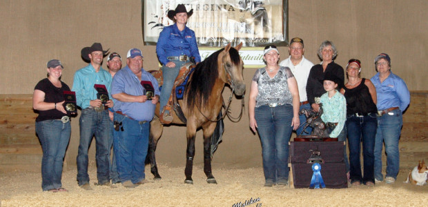 """In The Day"" aka Levi, shown by Mandy Yarbrough and owned by Dana Grafft, at the VRHA Summer Slide won High Point Champion​ in the Open, Intermediate Open, and Limited […]"