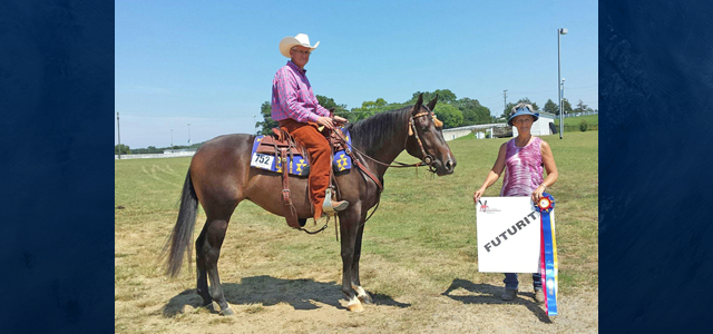 Congratulations to Mike Jennings riding Captured Or Elsa, owned by Stephanie Jennings, for winning Champion 2 & 3 YO Western Pleasure, Reserve Champion All Age Ranch Riding, and Reserve Champion […]