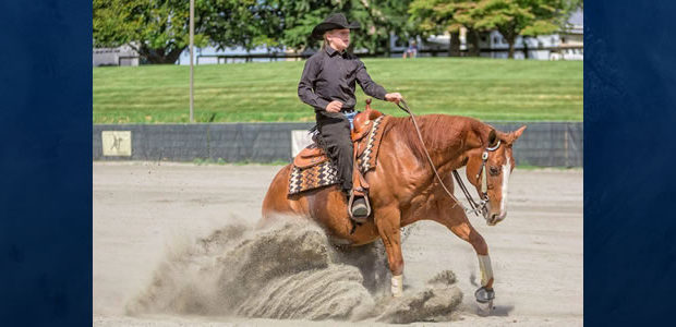 Maria Richards riding Jacs Zig Zag Manwasthird in the Youth 13-under NRHA Northeast Affiliate Regional Championship in her first year showing!