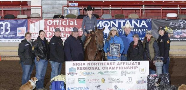 Brooke Myers riding Ready Spook won the NRHA Northeast Affiliate Regional Championship in the Youth 14-18 marking a 145.5(!) , was third in the Novice horse 1, and was 3rd […]