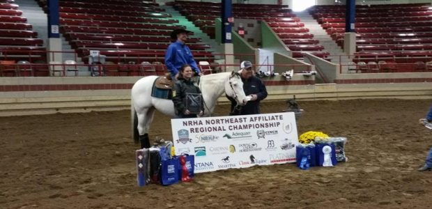 Eric Priest riding Who Whiz McMurtry, owned by Holly Bray, was co-Champion in the Rookie Professional Affiliate at the NRHA Northeast Affiliate Regional Championship as well as the  Rookie Professional division […]