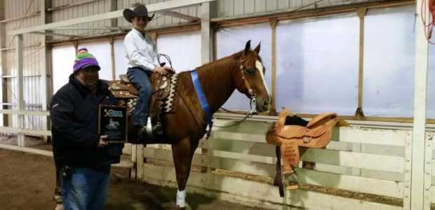 John Richards riding Cutter Senbar won the Short Stirrup NRHA Northeast Affiliate Regional Championship and his first saddle in Syracuse this past October!