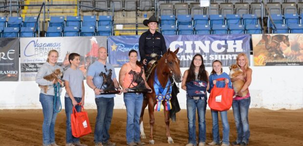 Congratulations Amanda Yarbrough showing Gunners Shining Star, owned by Don and Evelyn Burgy, Clarksville, Maryland. Champion Levels 1 & 2 at the Mid-Atlantic Classic Futurity.